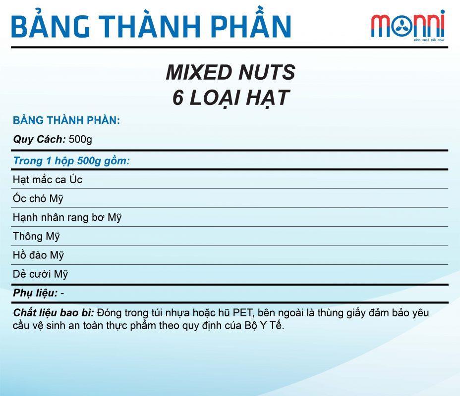Mixed Nut 6 Loai Hat