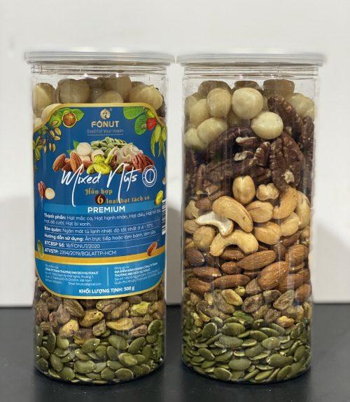 Mixed Nuts 6 Hat Da Tach Vo 500g