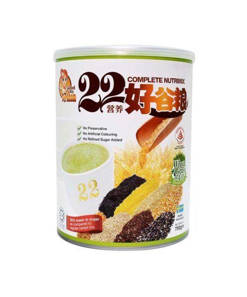 Bột ngũ cốc dinh dưỡng 22 Complete Nutrimix Wheat Grass 750g