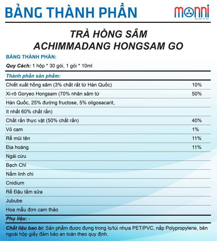 Tra Hong Sam Achimmadang Hong Sam Go