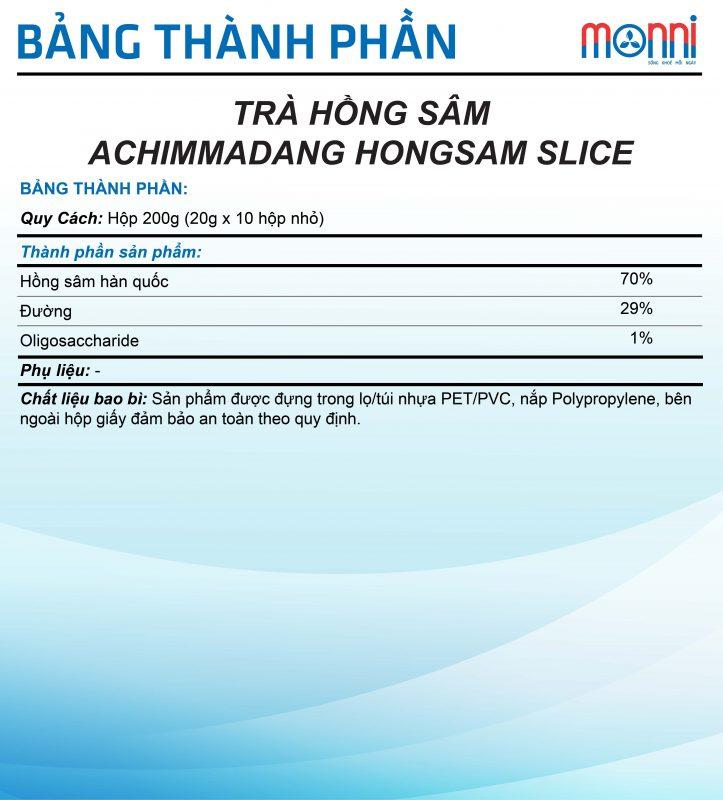 Tra Hong Sam Achimmadang Hong Sam Slice