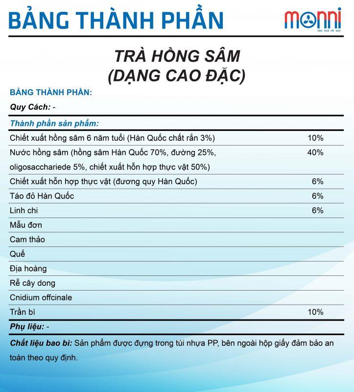 Tra Hong Sam Dang Cao Dac