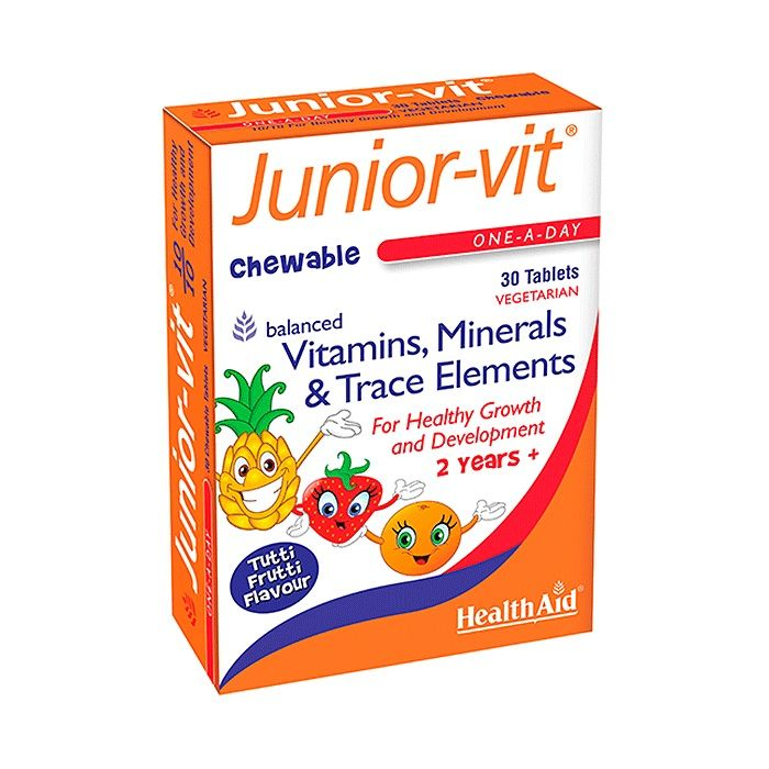 Thực phẩm bổ sung vitamin cho trẻ HealthAid Junior-Vit Chewable