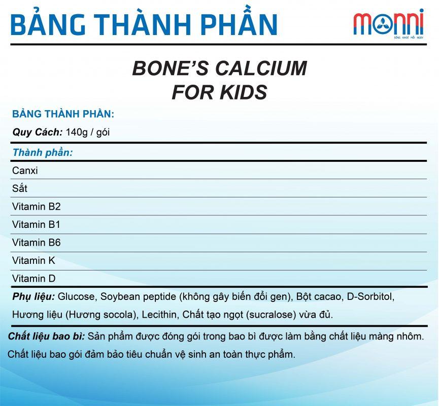 Bone's Calcium For Kids