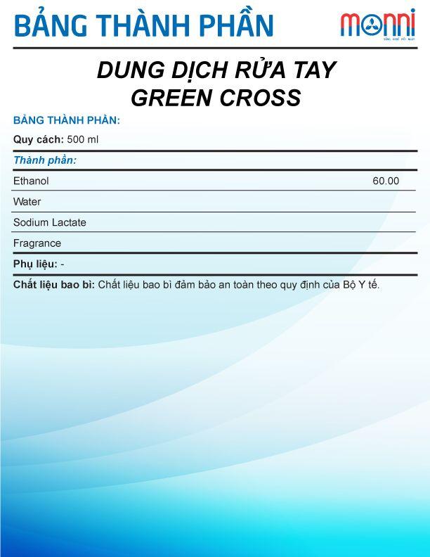 Dung Dich Rua Tay Green Cross 500ml 1