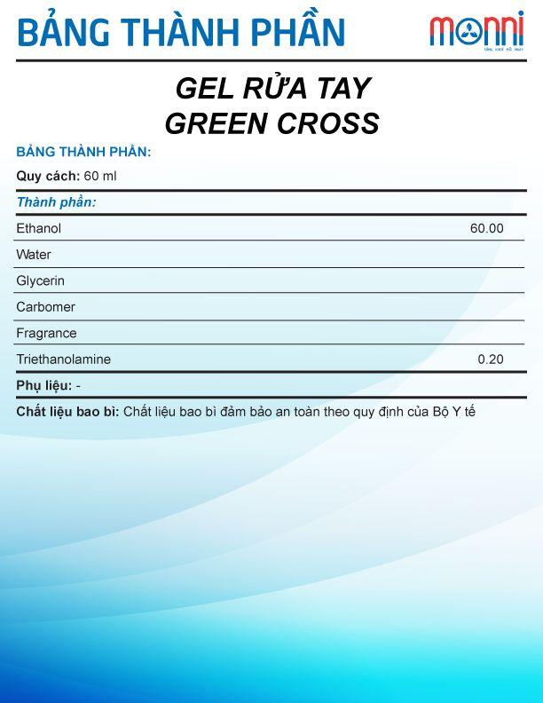 Gel Rua Tay Green Cross 60ml 1