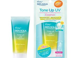 Sunplay Skin Aqua Tone Up Uv Essence Tinh Chat Chong Nang Hieu Chinh Sac Da Mint Green