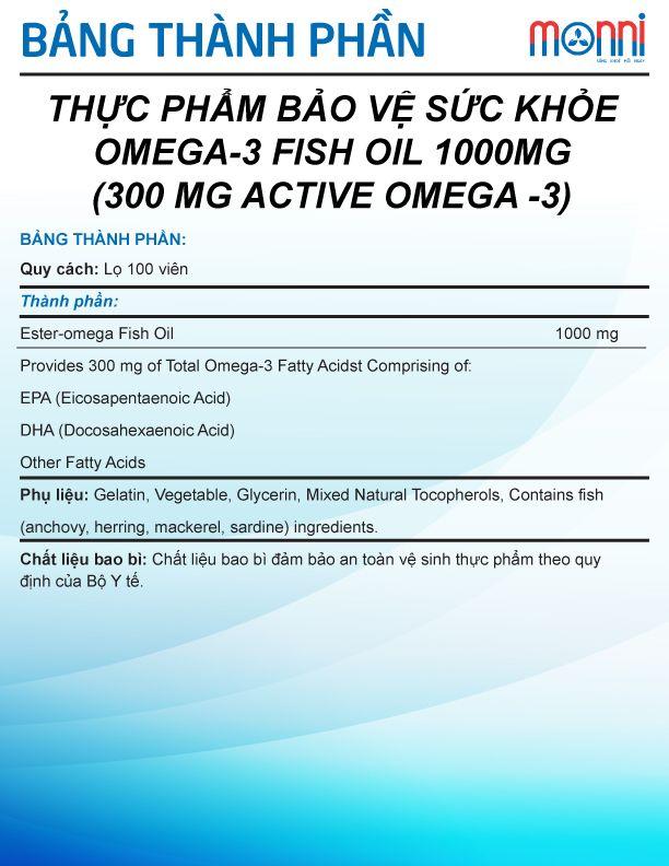 Omega 3 Fish Oil 1000 Mg 100v