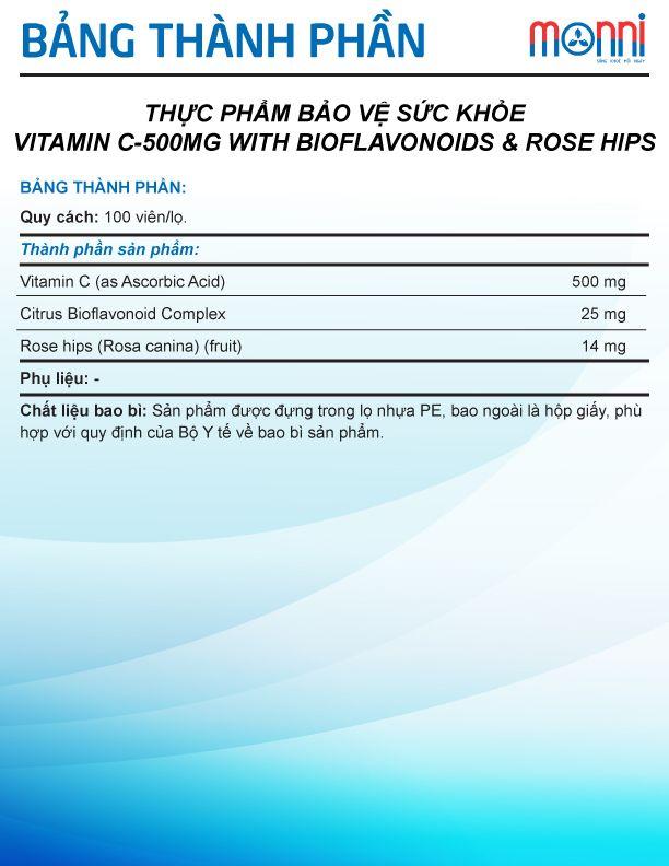 Puritans Pride Vitamin C 500mg 100 Vien