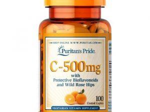 Vitaminc 500mg 100 Vien Puritan's Pride Usa