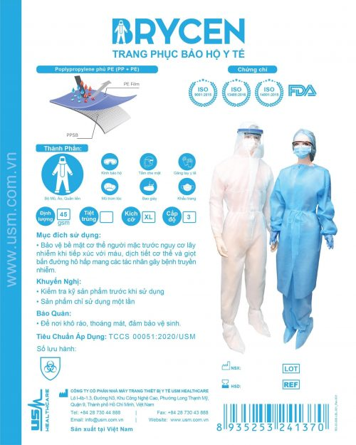 Bo Trang Phuc Phong Chong Dich Cap 1 Usm Healthcare Vietnam 3