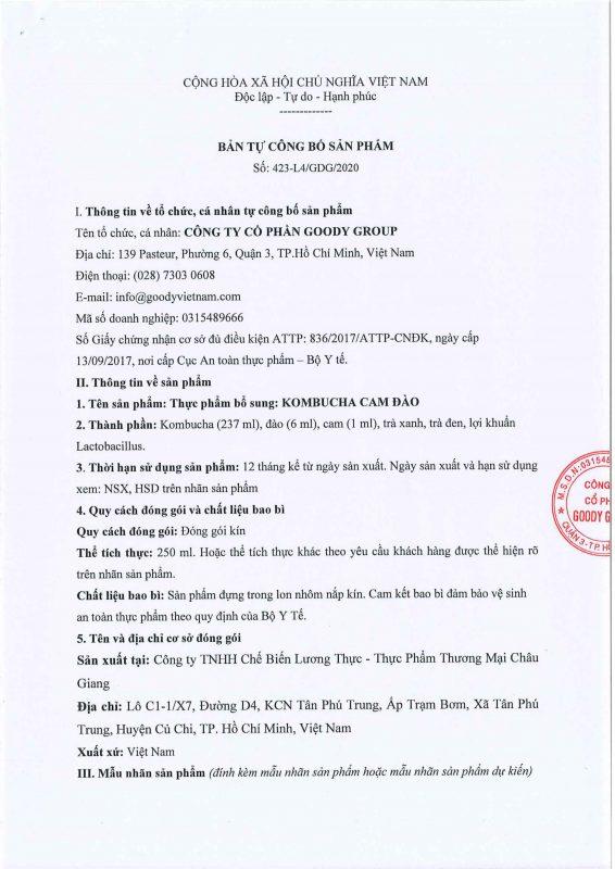 Kombucha Cam Dao Viet Nam Cb