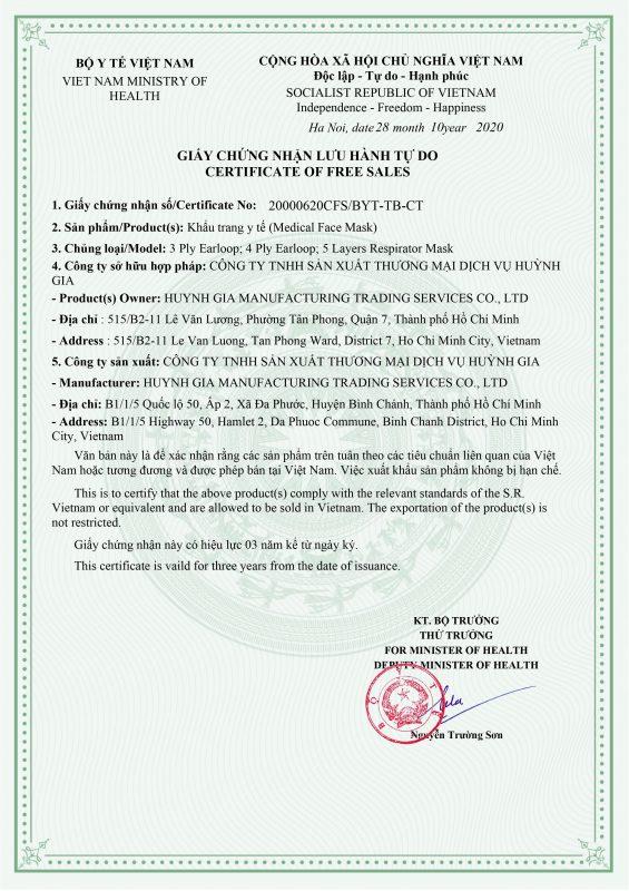 Khau Trang N95 Huynh Gia Viet Nam