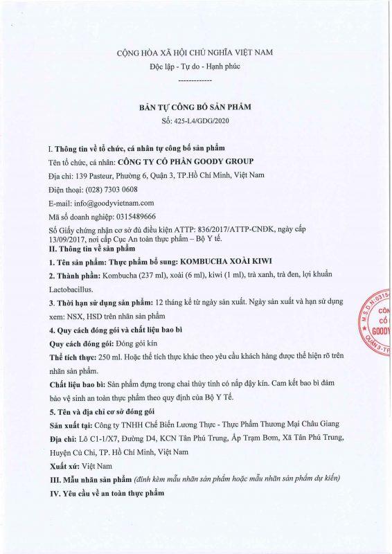 Kombucha Xoai Kiwi Viet Nam Cb