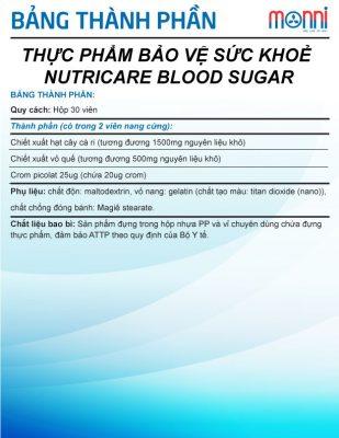 Nutricare Blood Sugar 30 Vien
