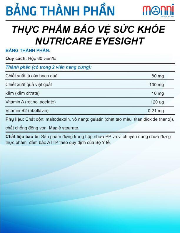 Nutricare Eyesight 60 Vien 1